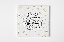 Merry Christmas Typography Card