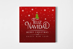 Feliz Navidad Lettering Card