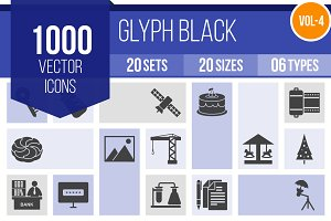 1000 Glyph Icons (V4)
