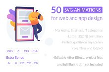 50 SVG animations for UI design by  in Graphics