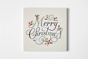 Merry Christmas Lettering Typography