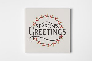 Season's Greetings Floral Wreath