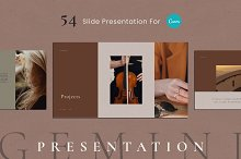 Gemini Canva Presentation Template by  in Presentations