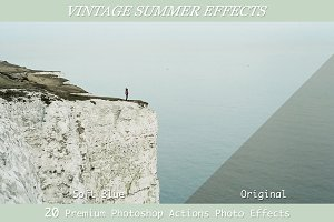 Vintage Summer Effects-20 PS Actions