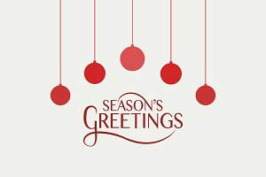 Season's Greetings Card Template