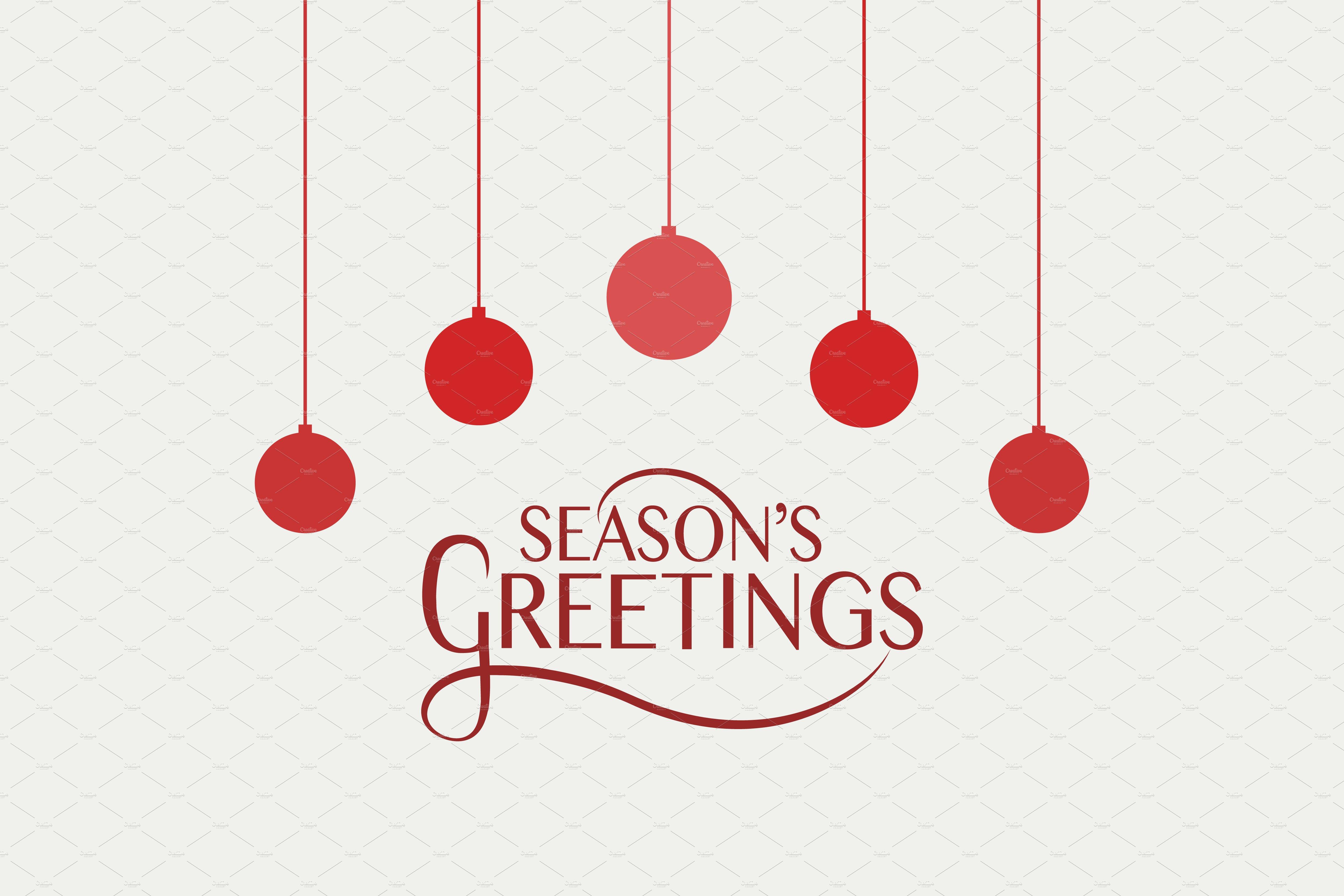 Seasons Greetings Card Template Card Templates Creative Market