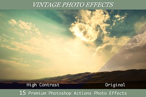 15 Vintage Photo Effects- PS Actions