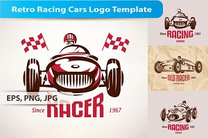 Retro Racing Cars Logo Template