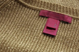 pink label,sewn on delicate sweater