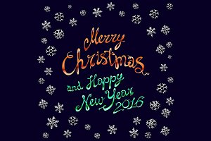Merry Christmas. Happy New 2016 Year