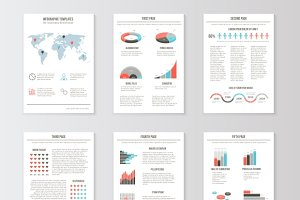 Set of templates for business flyers