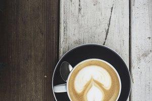 Latte on Wood