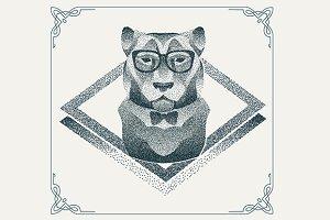 Dotwork hipster Tiger