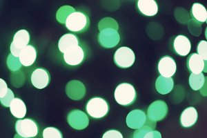 Green bokeh christmas lights