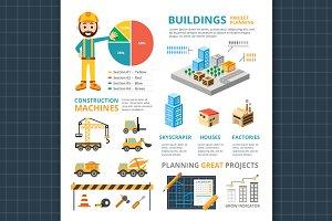 Construction Infographic elements