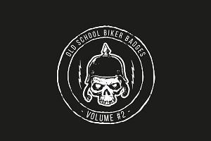 Old School Biker Badges - Vol 2