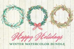 Christmas Greenery Watercolor