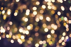 Gold bokeh lights