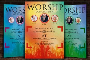 Christ Worship Concert Flyer Templat