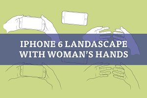 Woman's hands with iPhone 6 Plus