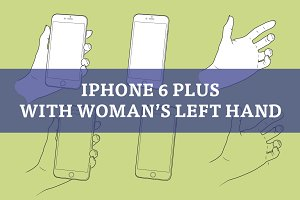 Woman's left hand with iPhone 6 Plus