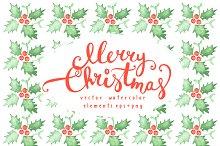 Watercolor Christmas design
