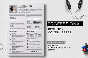 Professional resume + cover letter