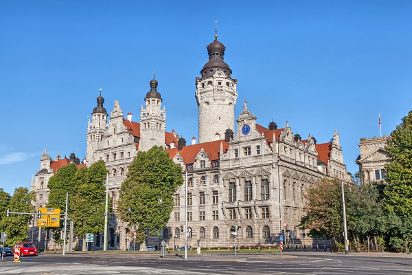 New Town Hall Neues Rathaus Leipzig High Quality Architecture Stock Photos Creative Market