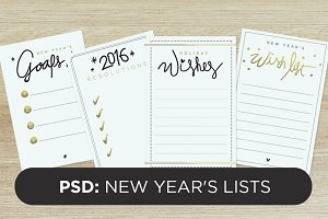 new year's lists (psd)