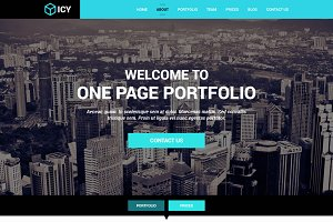 Icy - OnePage Portfolio (PSD)