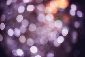 Abstract blurred bokeh of christmas