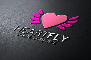 Heart Fly Logo