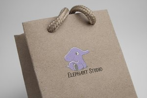 80%OFF Elephant Studio Logo template