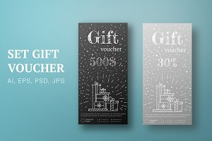 Gift card silver, black. Certificate