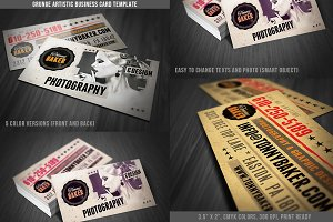 Grunge Business Card Template 01
