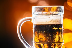 glass dark beer mug