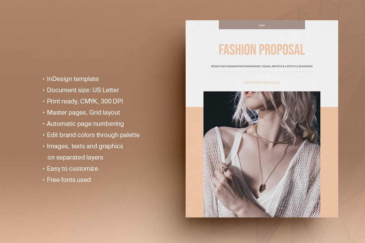 Fashion Business Plan Template Creative Indesign Templates Creative Market