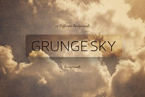 Grunge SKY Backgrounds-Golden style