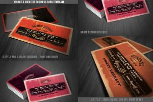 Grunge Business Card Template 04