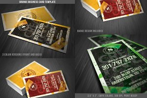 Grunge Business Card Template 05