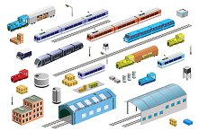 Railway Transport Set