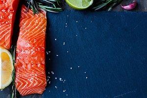 Delicious fresh salmon