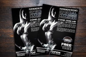 Gym and Fitness Sports Flyer