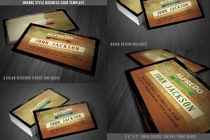 Grunge Business Card Template 06