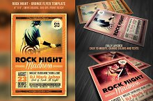 Rock Night Grunge Flyer
