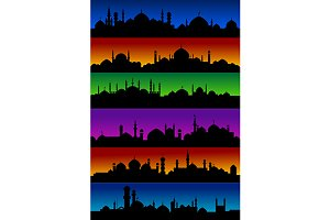 Oriental arabian city skylines with