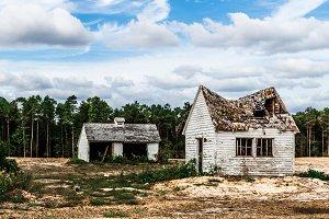 Abandoned Shack and Garage