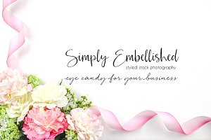 Styled Stock Photo - Floral w/Ribbon