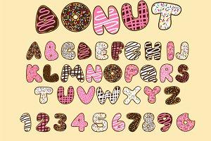 Donut vector font