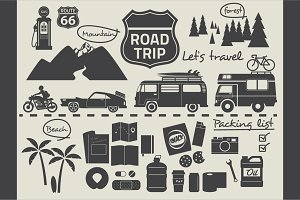 Road trip design elements